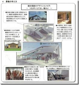 稲田堤駅橋上化景観図